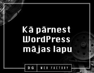 Kā pārnest WordPress mājas lapu uz citu hostingu